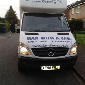man with van from front